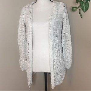 Cynthia Rowley Long Open Knit Cardigan Size Med